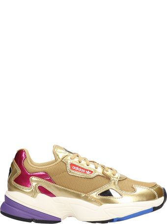 Adidas Falcon W Gold Fabric Sneakers