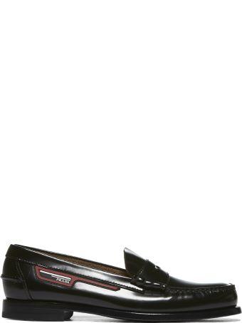 Prada Logo Patch Loafers