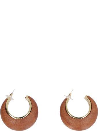 Cult Gaia Mona Wood Hoop Earrings