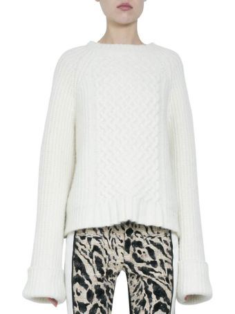 Haider Ackermann Borago Cream Wool And Silk Sweater