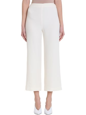 Theory Clean Crop Flared High Waisted Trousers