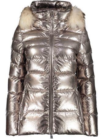 Add Hooded Metal Nylon Down Jacket