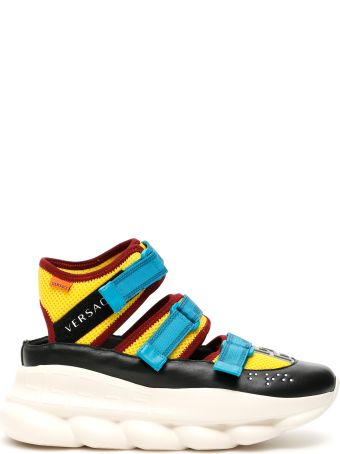 Versace Chain Reaction Cut-out Sneakers