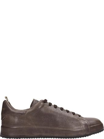 Officine Creative Browne Leather Ace Sneakers
