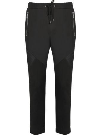 Les Hommes Contrast Panel Track Pants