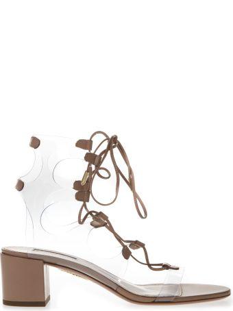 Aquazzura Pvc & Cuir Leather Sandals
