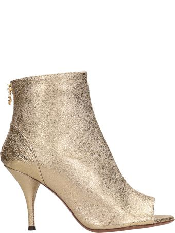 L'Autre Chose Bronze Leather Ankle Boots