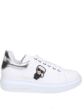 Karl Lagerfeld Sneakers In White Leather