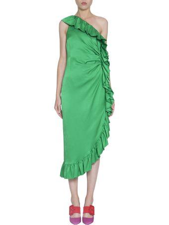 ATTICO Satin Ruffled Dress