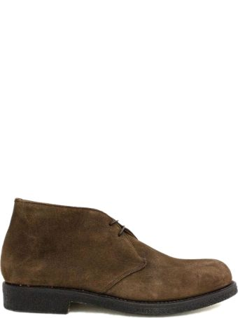 Green George Tobacco Suede Ankle Boot.