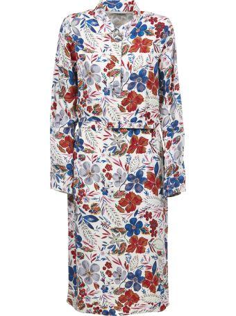 Essentiel Flower Print Shirt Dress