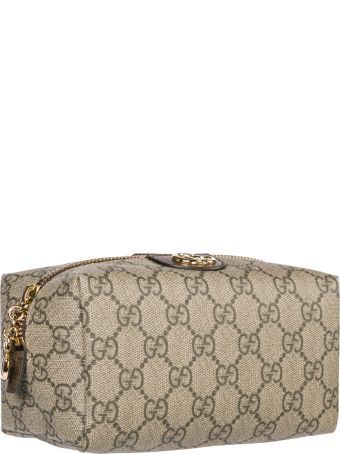 e3703f53927938 ... Bag in Natural; ad952f2dc99 Gucci Gucci Travel Makeup Beauty Case  Ophidia - Marrone - 10902035 .