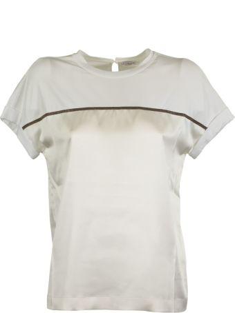 Brunello Cucinelli Contrast Band T-shirt