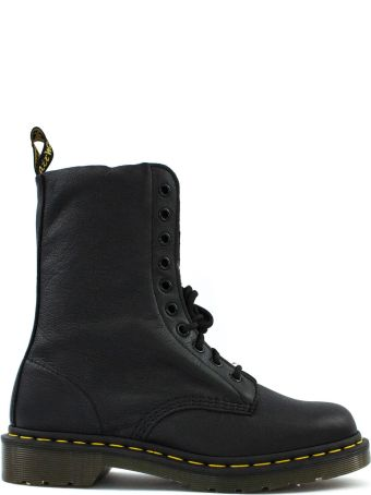 Dr. Martens Black Grained Leather Boots.