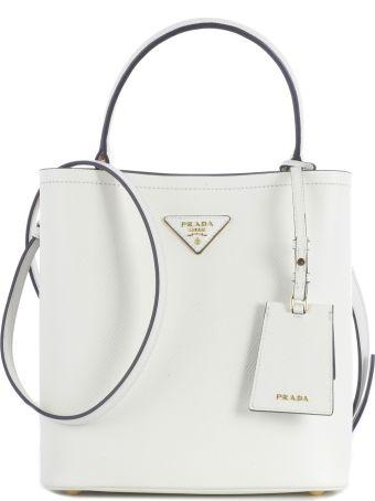Prada Small Saffiano Bucket Bag