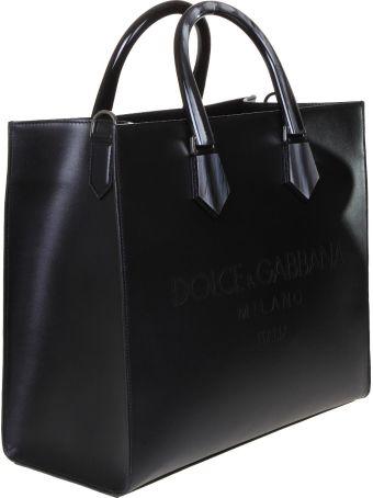 Dolce & Gabbana Shopping Design Logo In Calfskin With Logo