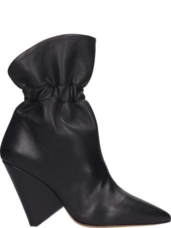 Isabel Marant Lileas Ankle Boots In Black Leather