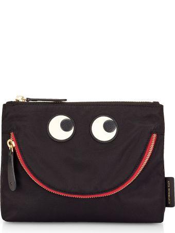 Anya Hindmarch Black Nylon Happy Eyes Pouch