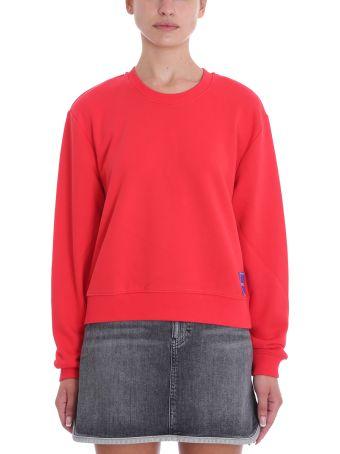Calvin Klein Jeans Red Cotton Sweatshirt