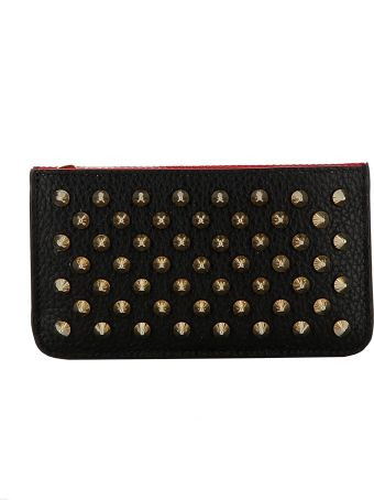 Christian Louboutin Black/gold Leather Wallet