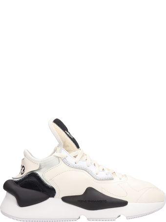 Y-3 Kaiwa White Leather Sneakers