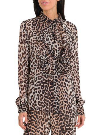 Ganni Mullin Leopard Print Skirt