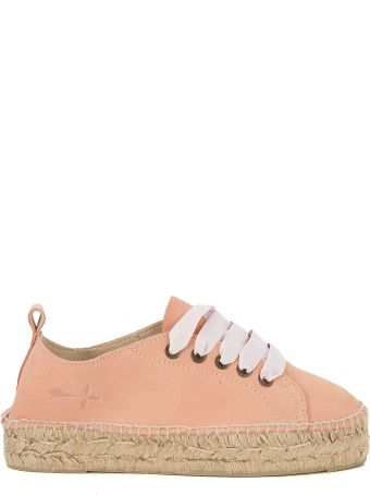 Manebi Manebí Hamptons Pink Suede And Jute Espadrilla Sneaker