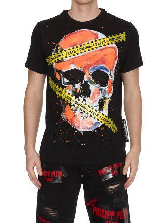 Philipp Plein Platinum Cut Round Neck Skull T-shirt