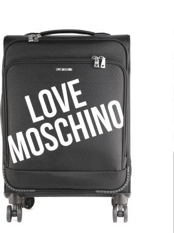 Love Moschino Black Logo Polyester Spinner