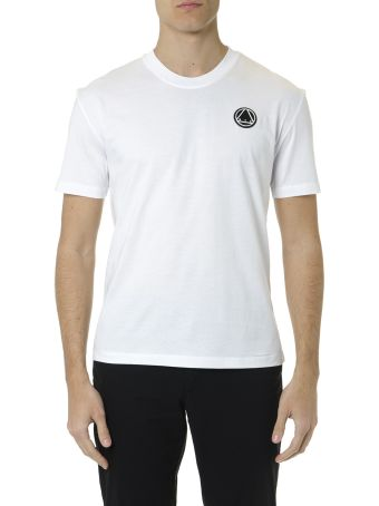 McQ Alexander McQueen White Cotton T Shirt With Logo Patch