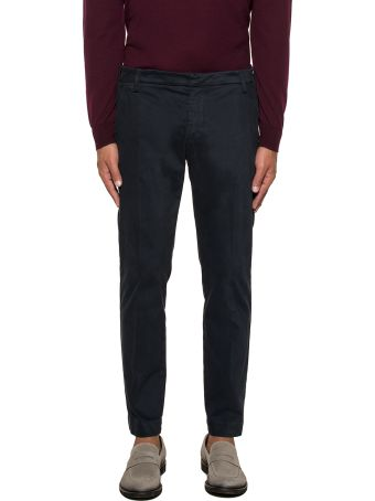 Entre Amis Dark Blue Cropped Trousers