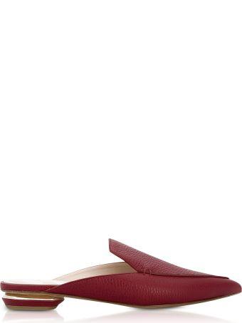 Nicholas Kirkwood Beya Burgundy Tumbled Leather Mules