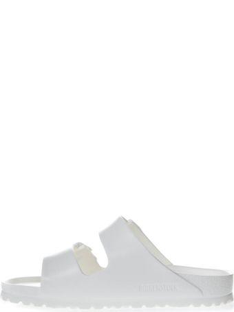 Birkenstock White Arizona Slippers