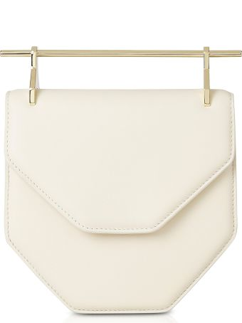 M2Malletier Amor Fati Ivory Leather Shoulder Bag