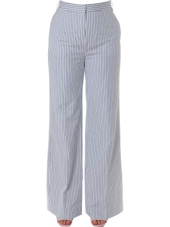 Victoria Victoria Beckham Palazzo Stripped Cotton Pants