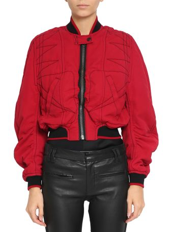 Haider Ackermann Cropped Cotton Bomber Jacket