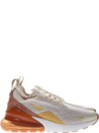 Nike Cream And Gold Sneakers Nike Air Max 270 In Knit