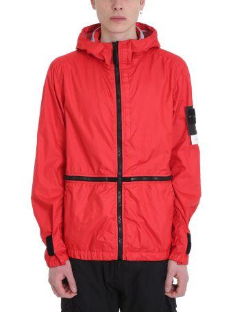 Stone Island Red Nylon Jacket