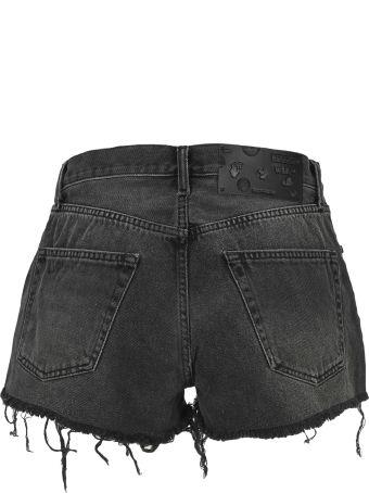 Off-White Off White Raw Edges Denim Shorts