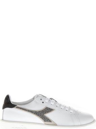 Diadora Heritage White Leather Sneakers