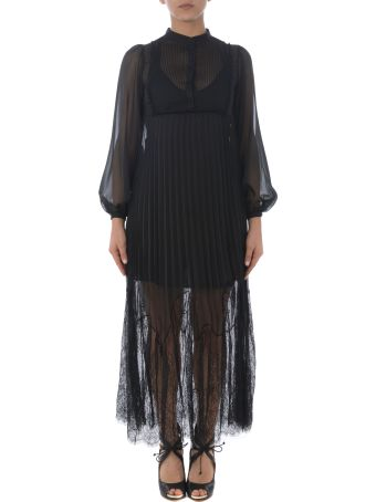 McQ Alexander McQueen Pleated Long Dress