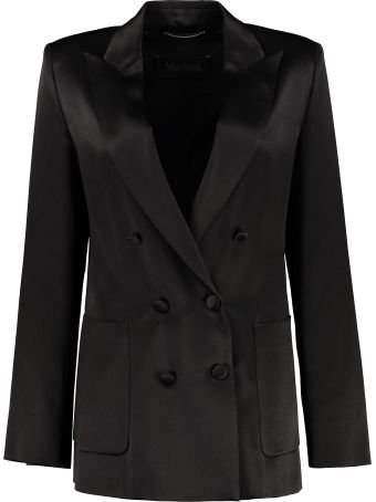 Max Mara Glauco Silk Double-breasted Blazer