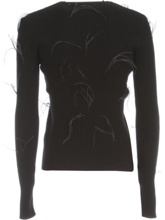 Marques'Almeida Light Weight Feather Crew Neck Jumper