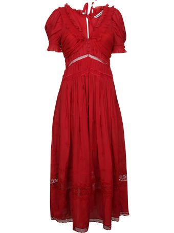 self-portrait 3d Plumetis Midi Dress