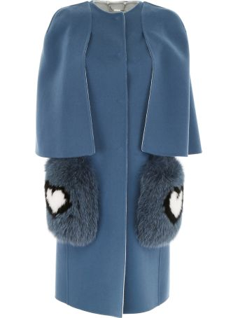 Fendi Wool Coat With Fur