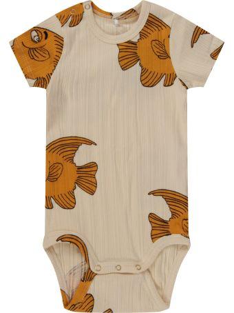 Mini Rodini Ivory Body For Babykid With Fishes