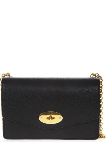Mulberry Black Hammered Leather Darley Bag