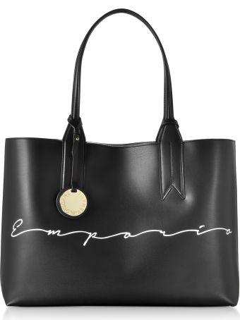 Emporio Armani Signature Print Tote Bag
