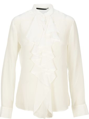 Haider Ackermann Ruffled Silk Shirt