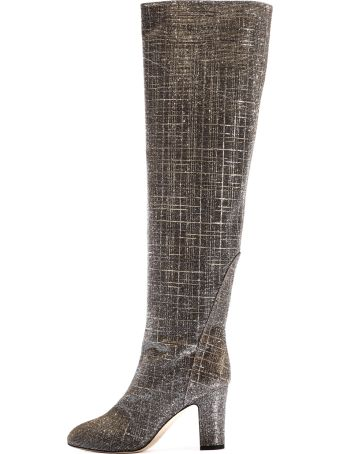 GIA COUTURE High Boot Silver/gold
